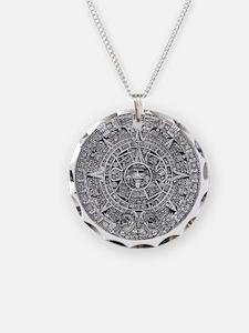 Aztec Calendar Stone wt 25 t Necklace