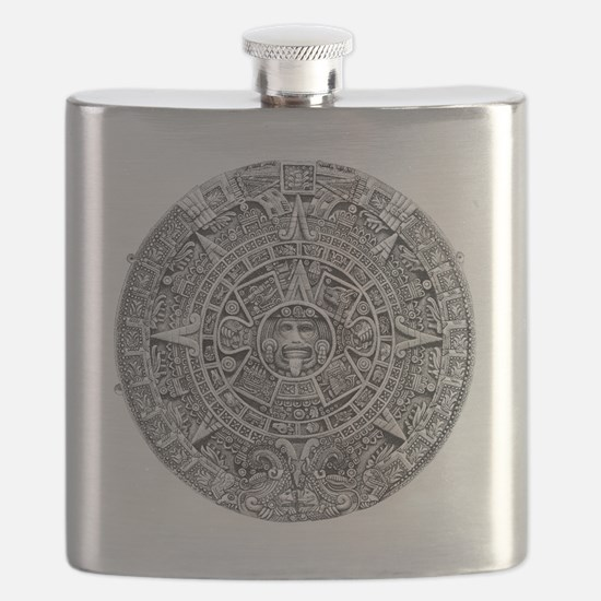 Aztec Calendar Stone wt 25 tons diam 11 ft  Flask