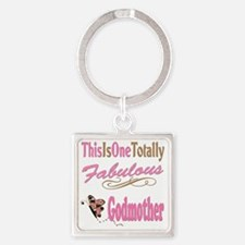 A Fabulous Godmother copy Square Keychain