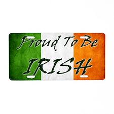 irish_flag_banner_3w Aluminum License Plate