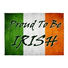 irish_flag_banner_3w 5'x7'Area Rug