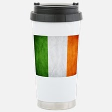 irish_flag_banner Stainless Steel Travel Mug