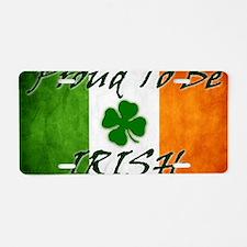 irish_flag_banner_2w Aluminum License Plate