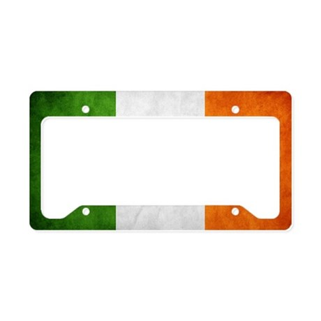 irish_flag_banner_4w License Plate Holder