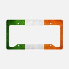 irish_flag_banner_4w License Plate Holder