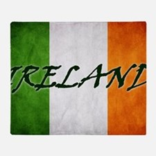 irish_flag_banner_4w Throw Blanket
