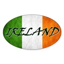 irish_flag_banner_4w Decal