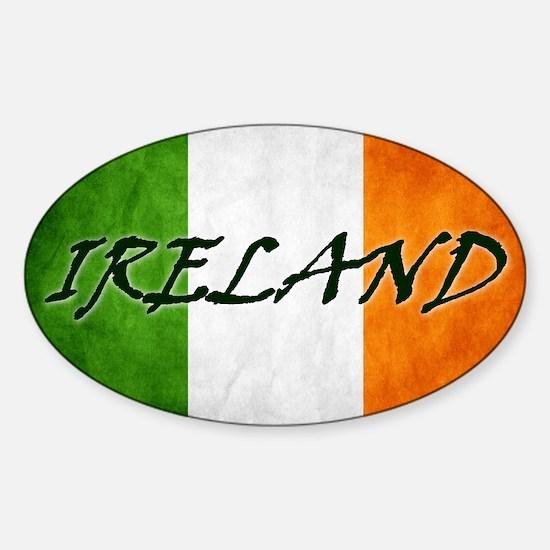 irish_flag_banner_4w Sticker (Oval)