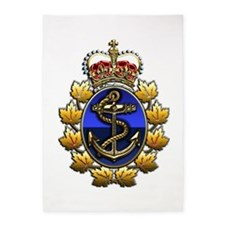 CF Naval Operations Command Logo 5'X7'area Rug