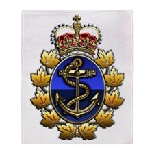 CF Naval Operations Command Logo Throw Blanket
