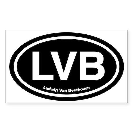 LVBdark Sticker (Rectangle)