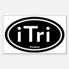 triblack Sticker (Rectangle)