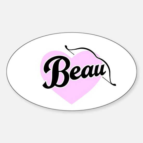 Beau Oval Decal