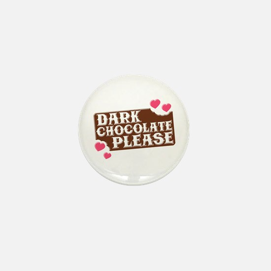 Dark Chocolate Please Hearts Mini Button