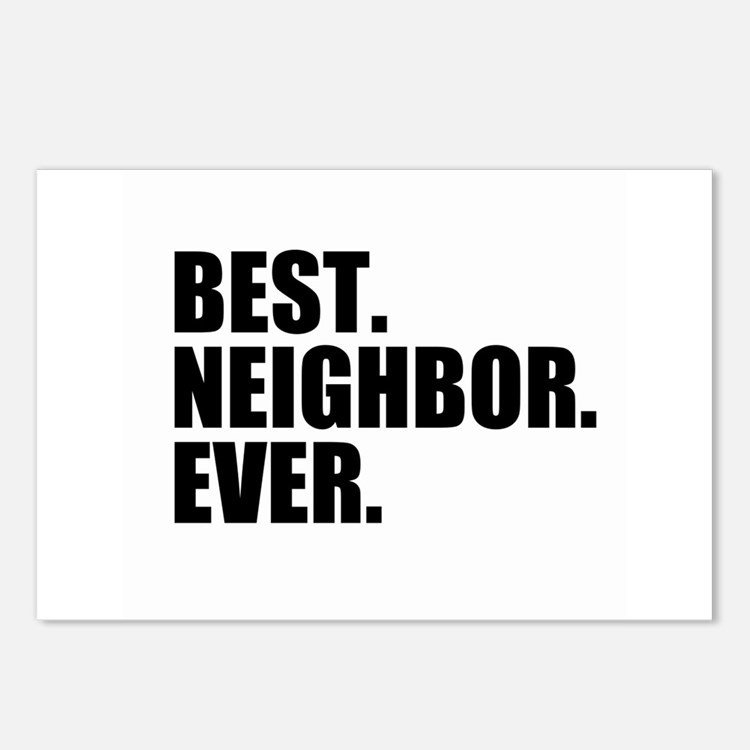 Best Neighbor Ever Postcards (Package of 8)
