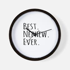 Best Nephew Ever Wall Clock