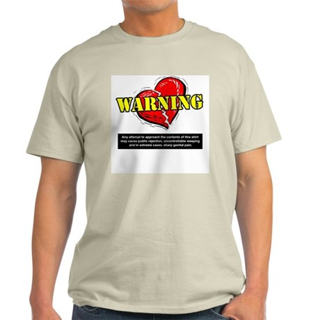 Valentines Day Warning Ash Grey T-Shirt