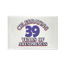 Awesome at 39 birthday designs Rectangle Magnet