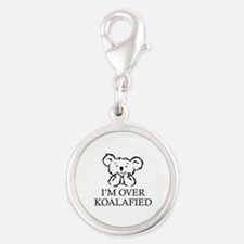 I'm Over Koalafied Silver Round Charm