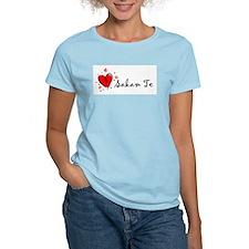 """""""I Love You"""" [Macedonian] Women's Pink T-Shirt"""