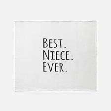 Best Niece Ever Throw Blanket