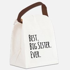 Best Big Sister Ever Canvas Lunch Bag