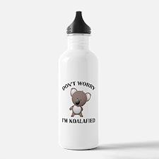 Don't Worry I'm Koalafied Sports Water Bottle