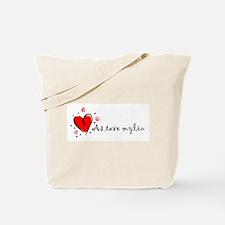 """""""I Love You"""" [Lithuanian] Tote Bag"""