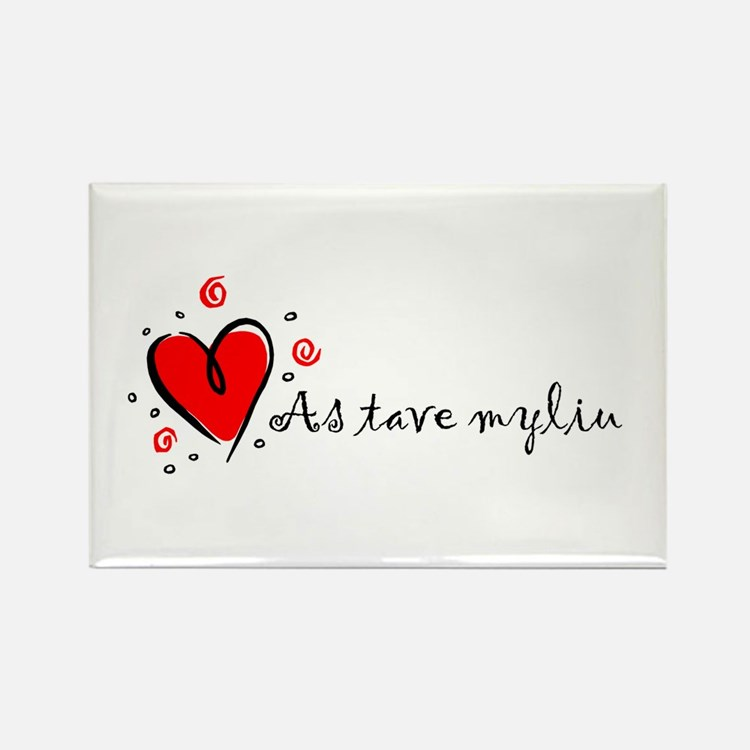 """I Love You"" [Lithuanian] Rectangle Magnet (10 pac"