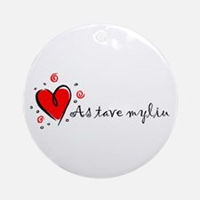 """I Love You"" [Lithuanian] Ornament (Round)"