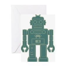 RobotMilGreen Greeting Card
