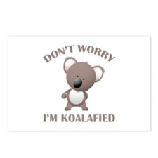 Don't Worry I'm Koalafied Postcards (Package of 8)