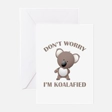 Don't Worry I'm Koalafied Greeting Cards (Pk of 20