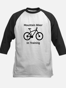 Mountain Biker in training Baseball Jersey
