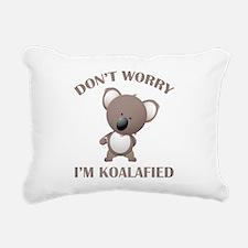 Don't Worry I'm Koalafied Rectangular Canvas Pillo