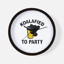 Koalafied To Party Wall Clock