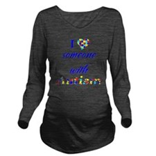 2-someoneautism Long Sleeve Maternity T-Shirt