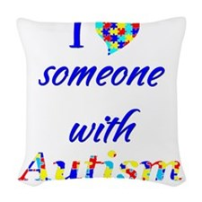 2-someoneautism Woven Throw Pillow