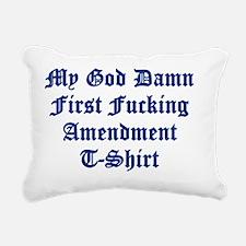 1st t shrit Rectangular Canvas Pillow