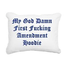 1st hoodie Rectangular Canvas Pillow