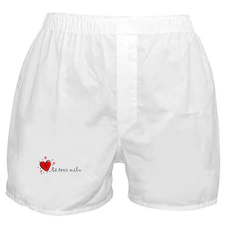 """I Love You"" [Latvian] Boxer Shorts"