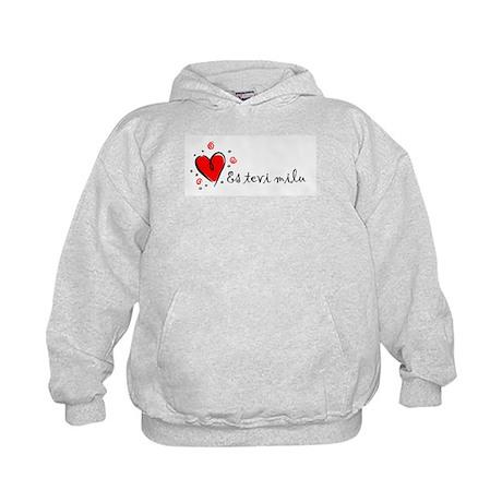 """I Love You"" [Latvian] Kids Hoodie"