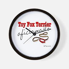 Toy Fox Terrier Aficionado Wall Clock