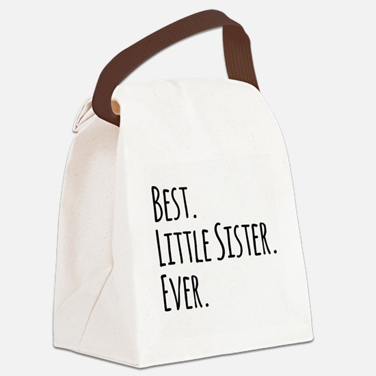 Best Little Sister Ever Canvas Lunch Bag