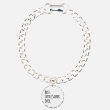 Best Little Sister Ever Charm Bracelet, One Charm