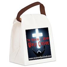 Reverend World Crusade BACK Canvas Lunch Bag