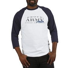 Proud Army Cousin (blue) Baseball Jersey