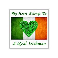 "my_heart_belongs_to_real_ir Square Sticker 3"" x 3"""