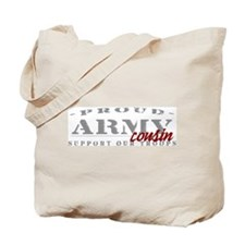 Proud Army Cousin (red) Tote Bag