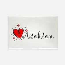 """I Love You"" [Kurdish] Rectangle Magnet"